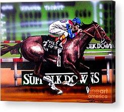 Horse Racing Acrylic Prints