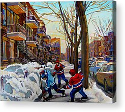 Saint Lawrence Street Paintings Acrylic Prints