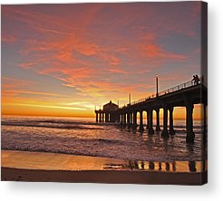 Beach Sunset Acrylic Prints