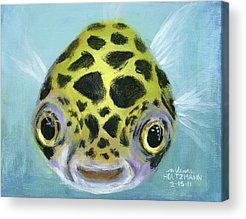 Fish Paintings Acrylic Prints