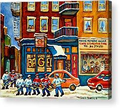 Montreal Neighborhoods Acrylic Prints