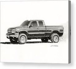 Chevrolet Drawings Acrylic Prints