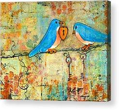 Lovebird Acrylic Prints