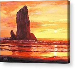 Beach Sunset Acrylic Prints