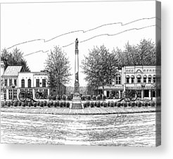 Confederate Monument In Franklin Tennessee Acrylic Prints