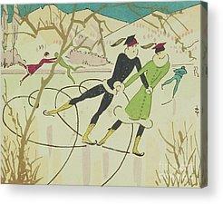 Winter Wonderland Drawings Acrylic Prints