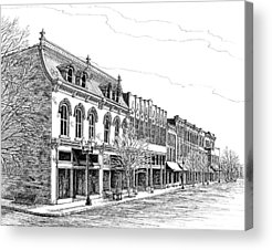 Main Street In Franklin Tennessee Acrylic Prints