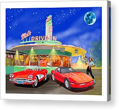 1950s Movies Mixed Media Acrylic Prints