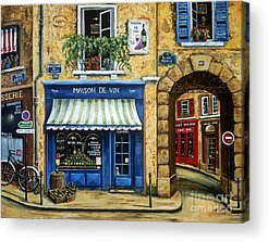 French Cafe Acrylic Prints