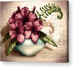 Rhododendron Digital Art Acrylic Prints