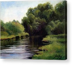 Swan Creek In Hickman County Paintings Acrylic Prints
