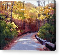 Warner Park In Nashville Tennessee Paintings Acrylic Prints