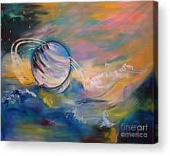 Planetoid Paintings Acrylic Prints