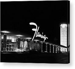 Flamingo Hotel Acrylic Prints