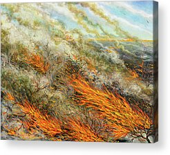 Combustion Paintings Acrylic Prints