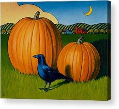Pumpkins Paintings Acrylic Prints