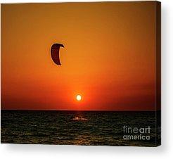 Kite Boarding Acrylic Prints