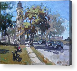 Historic Lighthouses Paintings Acrylic Prints