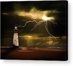 Lightning Bolts Acrylic Prints