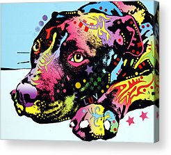 Dog Artist Acrylic Prints