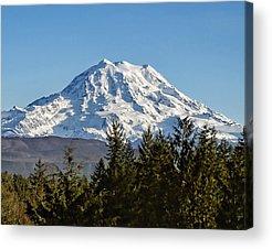 Mt Rainier Acrylic Prints