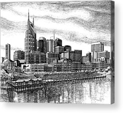 Pen And Ink Drawings For Sale Acrylic Prints