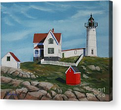 Maine Shore Paintings Acrylic Prints