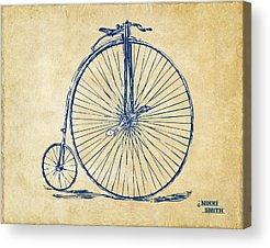 Cyclist Acrylic Prints