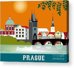 Vltava Digital Art Acrylic Prints