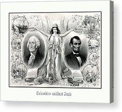 United States Presidents Drawings Acrylic Prints