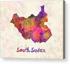 South Sudan Art Acrylic Prints