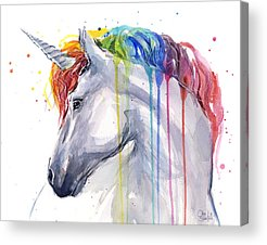 Unicorn Acrylic Prints