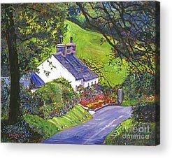 English Cottage Garden Acrylic Prints