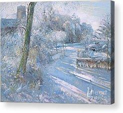 Snow Geese Paintings Acrylic Prints