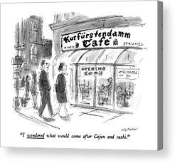 Kurfurstendamm Cafe Acrylic Prints
