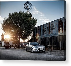 Rusty Cars Acrylic Prints