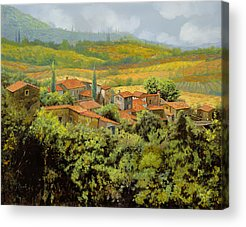 Chianti Hills Paintings Acrylic Prints