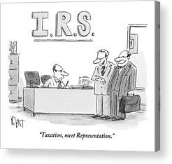 Taxes Acrylic Prints