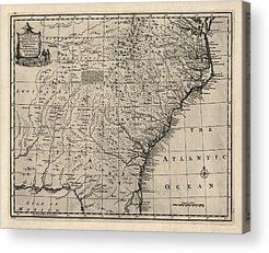 Colonial Map Of Georgia.Colonial Georgia Art Fine Art America