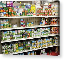 Canned Goods Acrylic Prints