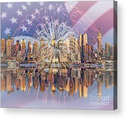 American Independance Digital Art Acrylic Prints