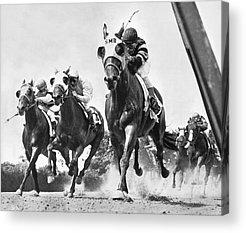 Horse Race Acrylic Prints