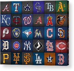 Yankees Mixed Media Acrylic Prints