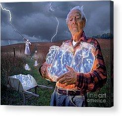 Electricity Acrylic Prints