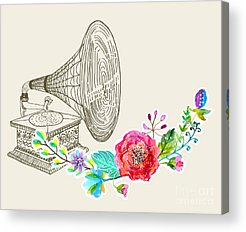 Gramophone Acrylic Prints