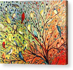Cardinal Paintings Acrylic Prints