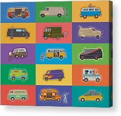 Volkswagen Van Photographs Acrylic Prints