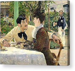 Outdoor Cafes Acrylic Prints