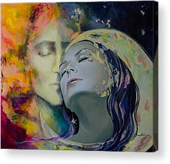 Kissing Paintings Acrylic Prints