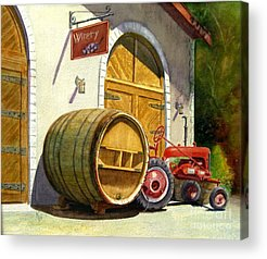 Winery Paintings Acrylic Prints